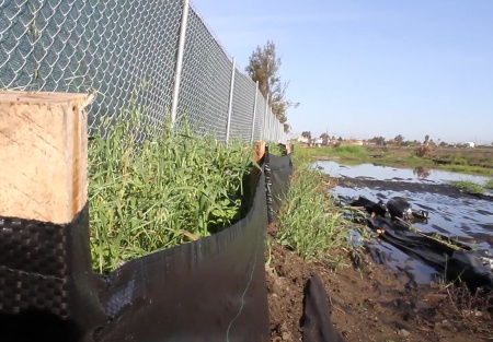 Silt fence for erosion control